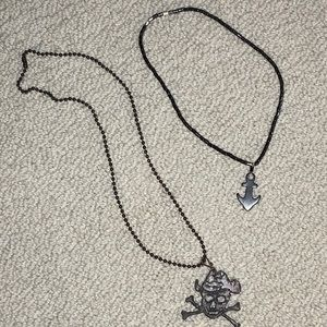 Two Necklaces:  Pirate & Anchor